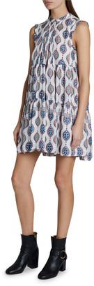 Chloé Ceramic Print Sleeveless Habutai Dress