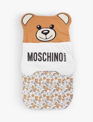 Moschino Bear logo-print stretch-cotton baby nest