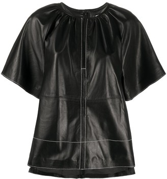 Stand Studio Gathered Short Sleeve Top