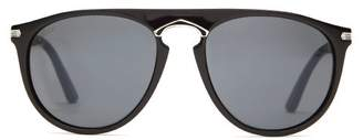 Cartier Eyewear - C De Aviator Acetate Sunglasses - Mens - Black