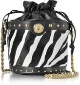 Balmain Renaissance Pony Hair Leather Bucket Bag