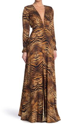 Ronny Kobo Nann Tiger Printed Maxi Dress