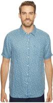 True Grit Floral Lux Linen Short Sleeve One-Pocket Shirt Men's Clothing