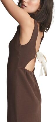 Reiss Alyssa Open Back Stretch Cotton Dress