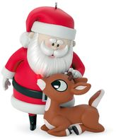 Hallmark Rudolph The Red-Nosed Reindeer Won't You Guide My Sleigh Tonight? Light-Up 2017 Keepsake Christmas Ornament