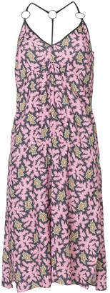 Victoria Victoria Beckham Printed Flared Midi Dress
