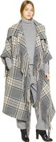 Chloé Plaid Virgin Wool Blanket Cape