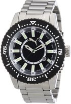 Puma Men's MOTOR PU102031001 Silver Stainless-Steel Quartz Watch with Dial