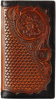 Ariat Basket Weave Floral Tab Rodeo Wallet