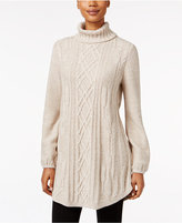 Style&Co. Style & Co. Cable-Knit Tunic Sweater, Only at Macy's