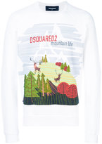 DSQUARED2 mountain life print sweatshirt
