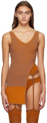 Isa Boulder Orange Knit Desert Tank Top