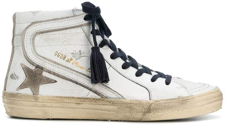 Golden Goose Tex distressed hi-top sneakers