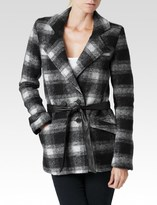 Paige Leona Coat - Black & White Plaid