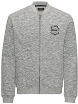 Jack and Jones Zip Up Heathered Sweatshirt