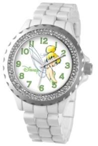 EWatchFactory Disney Tinker Bell Women's White Alloy Enamel Spark Watch 41mm