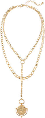 Kenneth Jay Lane Bead Chain 2-Layer Necklace