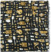 Dolce & Gabbana jazz club print scarf - men - Modal/Cashmere - One Size