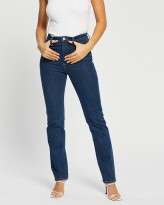 Neuw Women's Blue Straight - Marilyn Straight Jeans - Size 27 at The Iconic