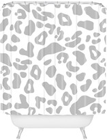 Deny Designs Allyson Johnson Gray Leopard Shower Curtain