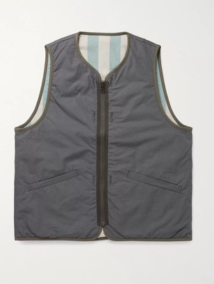 Visvim Iris Reversible Padded Cotton-Canvas Gilet - Men - Gray