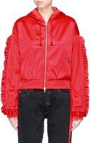 Forte Couture 'Soffio Di Fuoco' ruffle trim hoodie