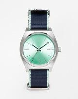 Nixon Time Teller Nylon Strap Watch - Navy