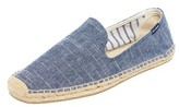 Soludos Striped Linen Smoking Slippers