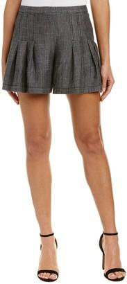 Trina Turk Women's Evette 2 Crosshatch Chambray Short