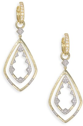 Jude Frances Lisse Diamond & 18K Yellow Gold Double Drop Kite Earring Charms