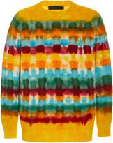 The Elder Statesman Wacky Dye Simple Cashmere Sweater