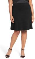 Nic+Zoe Flirt Textured Knit Skirt (Plus Size)