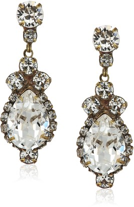Sorrelli Central Teardrop and Round Crystal Post Earrings