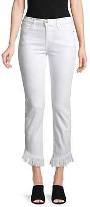 Frame Le High Frayed Crop Jeans