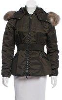 Moncler Saumur Fur-Trimmed Coat