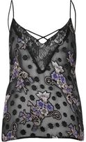 River Island Womens Black sheer jacquard cami
