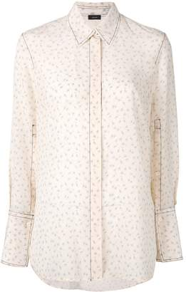 Joseph embroidered ditsy floral shirt