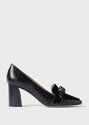 Hobbs Katherine Leather Reptile Court Shoes