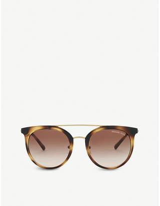 Michael Kors Havana Lia round sunglasses