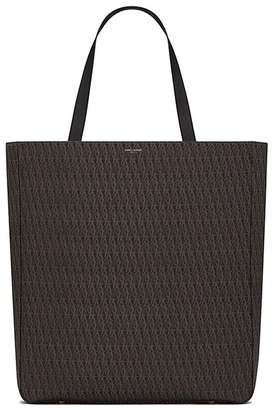 Saint Laurent Monogram Tote Bag Large Brown