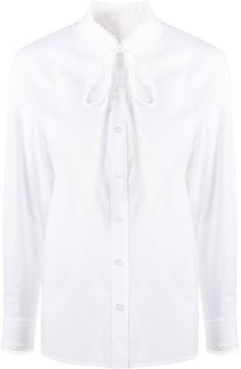 Tory Burch Removable-Collar Cotton Shirt