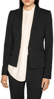 Cue Raised Collar Suit Jacket