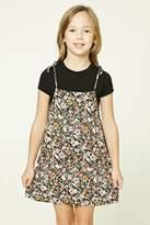 Forever 21 Girls Floral Combo Dress (Kids)