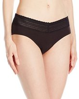 Warner's Women's Body Heaven Muffin Top Cotton Lace Hipster