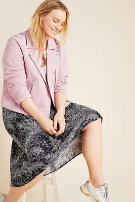Blank NYC Annika Suede Moto Jacket By in Pink Size 1 X