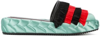Marco De Vincenzo Quilted Platform Slippers