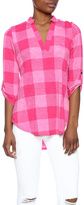 Si Advance Plaid Top