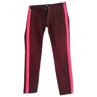 Hudson Multicolour Cotton Trousers for Women