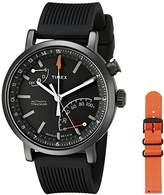 Timex Unisex TWG012600 Metropolitan+ Activity Tracker Smart Watch Gift Set with Black Silicone and Orange Nylon Straps
