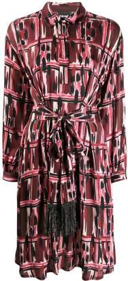 Just Cavalli belted shirt dress